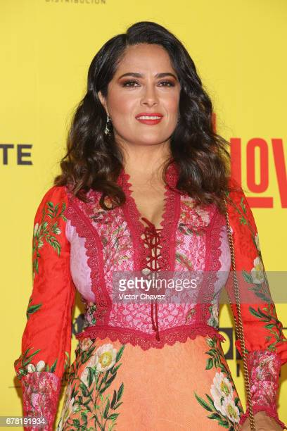 Actress Salma Hayek attends the 'How To Be A Latin Lover' Mexico City premiere at Teatro Metropolitan on May 3 2017 in Mexico City Mexico