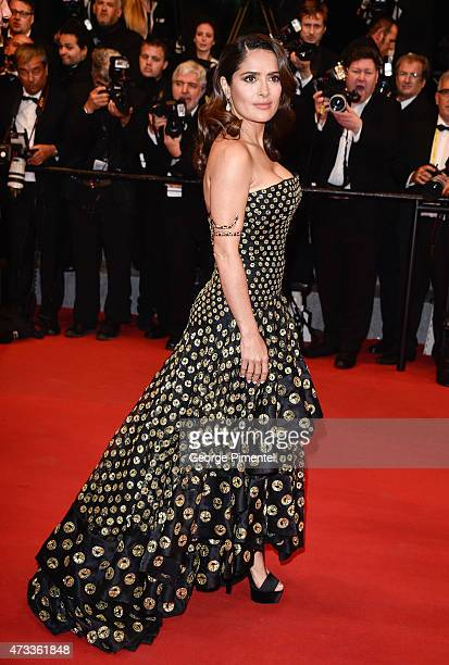 Actress Salma Hayek attends the 'Il Racconto Dei Racconti' Premiere during the 68th annual Cannes Film Festival on May 14 2015 in Cannes France
