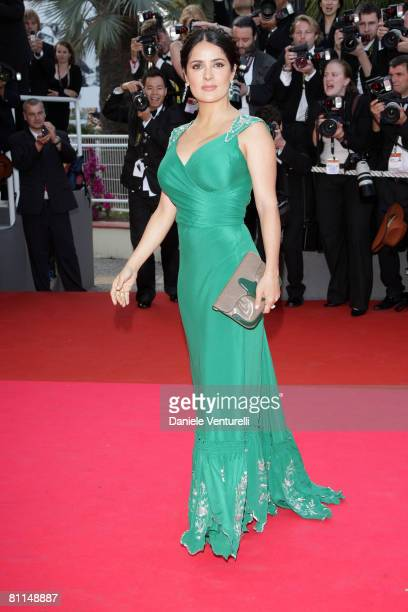 Actress Salma Hayek attends the Indiana Jones and the Kingdom of the Crystal Skull premiere at the Palais des Festivals during the 61st Cannes...