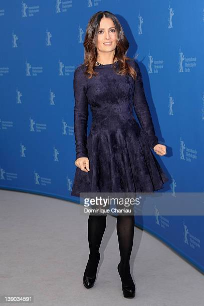 Actress Salma Hayek attends the 'La Chispa De La Vida' Photocall during day seven of the 62nd Berlin International Film Festival at the Grand Hyatt...