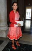 Actress Salma Hayek attends the 'La Voce Delle Immagini' Exhibition at the Palazzo Grassi on September 1 2012 in Venice Italy