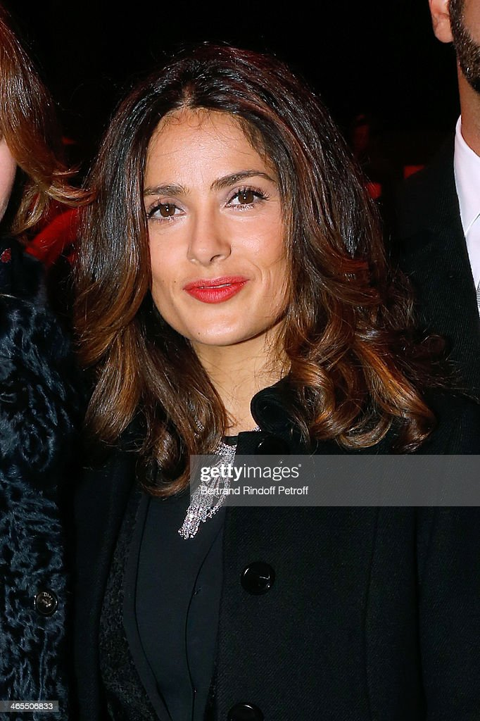 Actress Salma Hayek attends the 'Nuit De La Chine' - Opening Night at Grand Palais on January 27, 2014 in Paris, France.