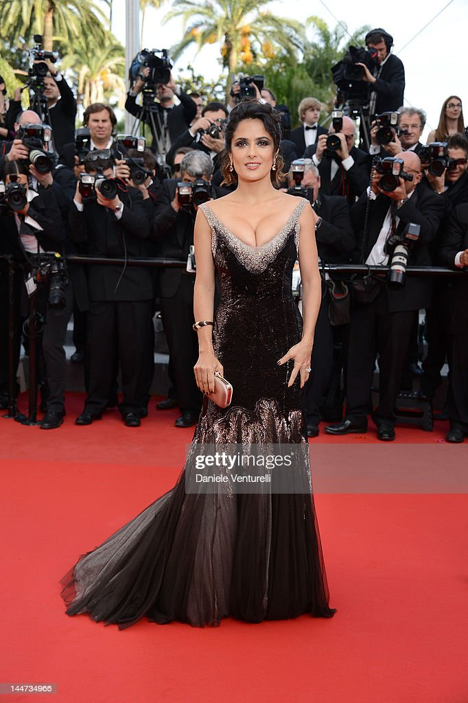 Actress Salma Hayek attends the Once Upon A Time Premiere during the 65th Annual Cannes Film Festival at Palais des Festivals on May 18 2012 in...