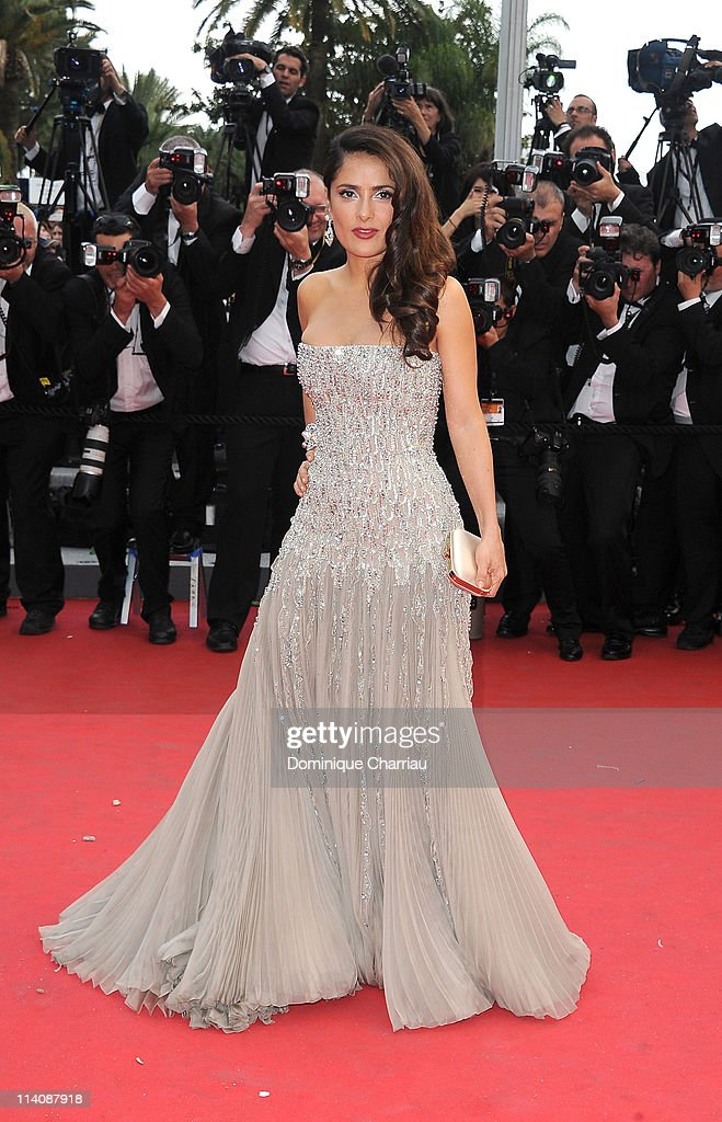 Actress Salma Hayek attends the Opening Ceremony and 'Midnight In Paris' Premiere at the Palais des Festivals during the 64th Cannes Film Festival on May 11, 2011 in Cannes, France.