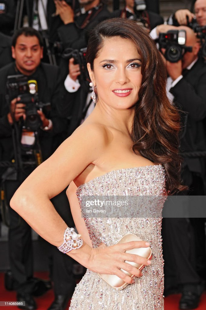 Actress <a gi-track='captionPersonalityLinkClicked' href=/galleries/search?phrase=Salma+Hayek&family=editorial&specificpeople=201844 ng-click='$event.stopPropagation()'>Salma Hayek</a> attends the Opening Ceremony at the Palais des Festivals during the 64th Cannes Film Festival on May 11, 2011 in Cannes, France.