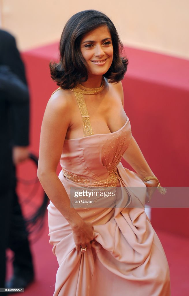 Actress Salma Hayek attends the Palme d'Or Award Closing Ceremony held at the Palais des Festivals during the 63rd Annual Cannes Film Festival on May 23, 2010 in Cannes, France.