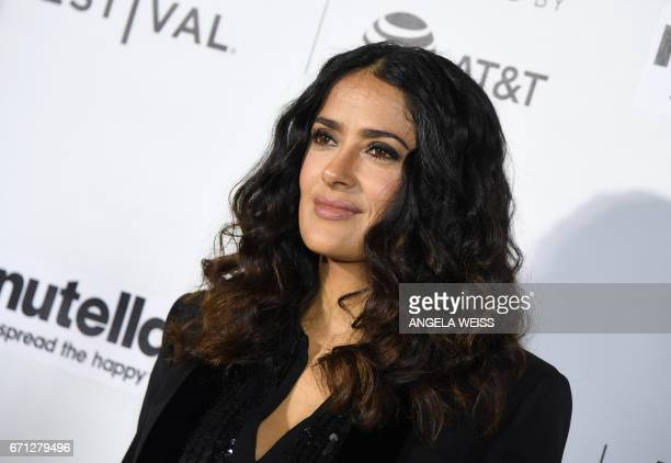 Actress Salma Hayek attends the Premiere of '11th Hour' during the 2017 Tribeca Film Festival at SVA Theater on April 21 2017 in New York City / AFP...