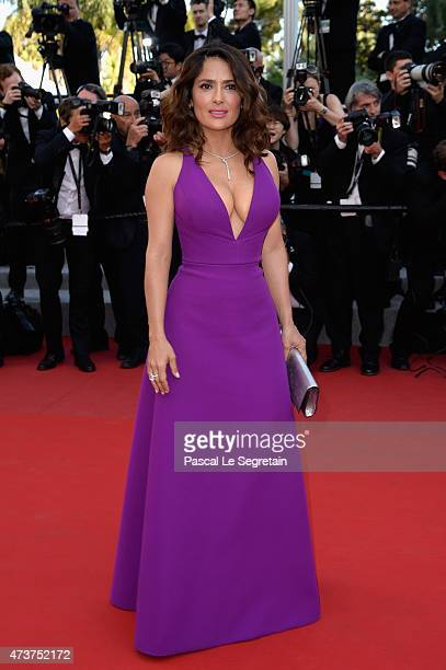 Actress Salma Hayek attends the Premiere of 'Rocco And His Brothers' during the 68th annual Cannes Film Festival on May 17 2015 in Cannes France