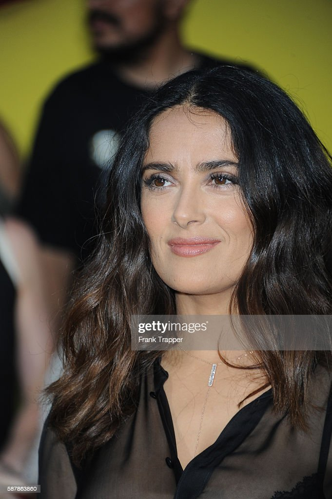 Actress Salma Hayek attends the premiere of Sony's 'Sausage Party' held at the Regency Village Theater on August 9 2016 in Westwood California