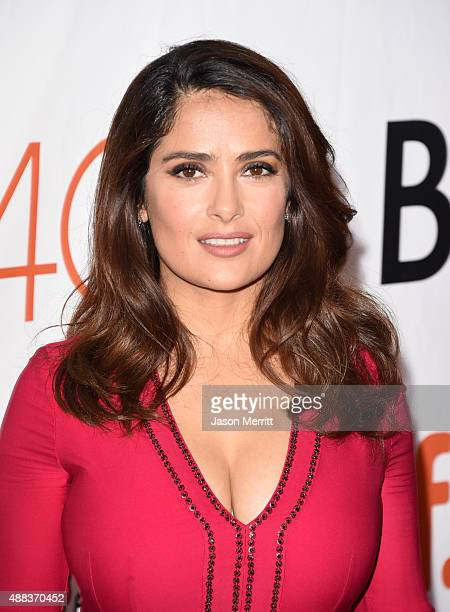 Actress Salma Hayek attends the 'Septembers of Shiraz' premiere during the 2015 Toronto International Film Festival at Roy Thomson Hall on September...