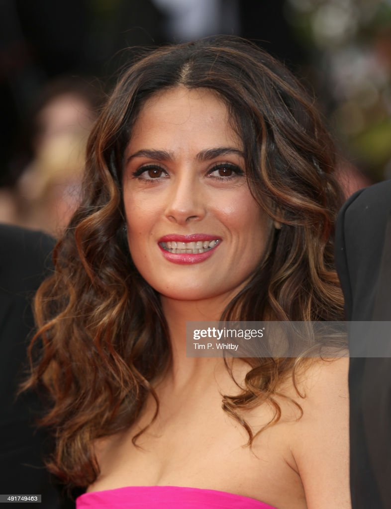 Actress <a gi-track='captionPersonalityLinkClicked' href=/galleries/search?phrase=Salma+Hayek&family=editorial&specificpeople=201844 ng-click='$event.stopPropagation()'>Salma Hayek</a> attends the 'The Prophet' premiere during the 67th Annual Cannes Film Festival on May 17, 2014 in Cannes, France.