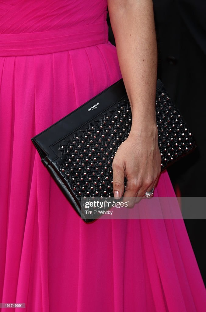 Actress Salma Hayek (purse detail) attends the 'The Prophet' premiere during the 67th Annual Cannes Film Festival on May 17, 2014 in Cannes, France.