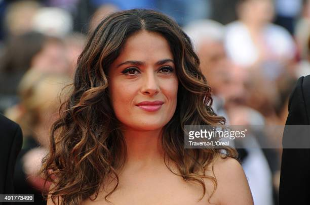 Actress Salma Hayek attends the 'The Prophet' premiere during the 67th Annual Cannes Film Festival on May 17 2014 in Cannes France