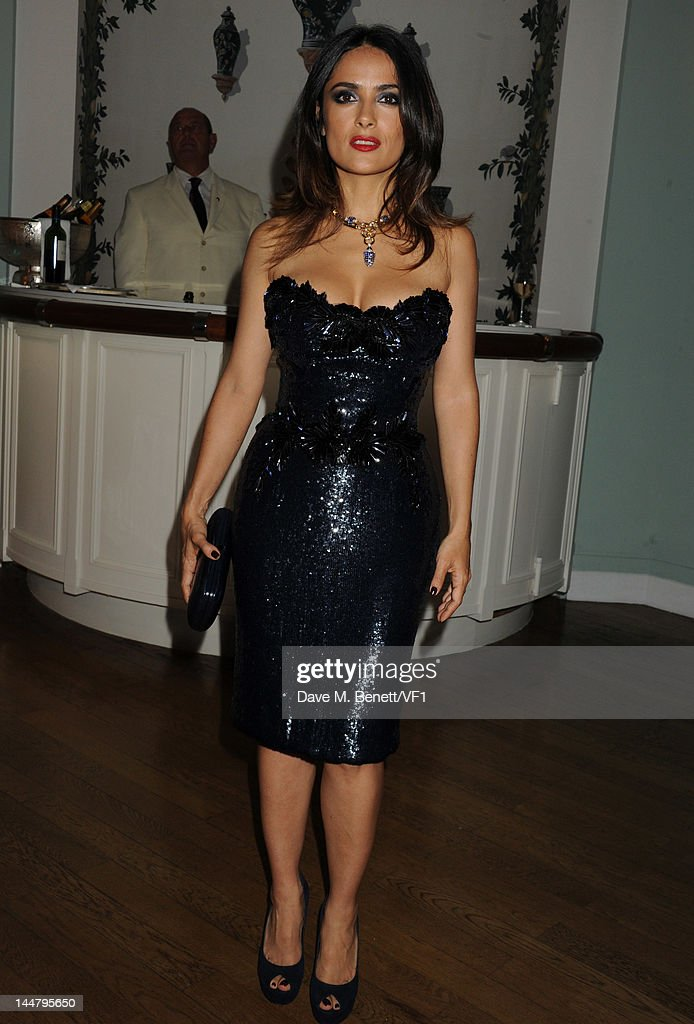 Actress Salma Hayek attends the Vanity Fair And Gucci Party during the 65th Annual Cannes Film Festival at Hotel Du Cap on May 19, 2012 in Antibes, France.