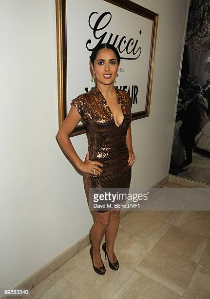 Actress Salma Hayek attends the Vanity Fair and Gucci Party Honoring Martin Scorsese during the 63rd Annual Cannes Film Festival at the Hotel Du Cap...