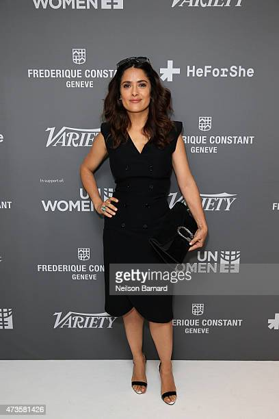 Actress Salma Hayek attends the Variety and UN Women's panel discussion on gender equality at 68th Cannes Film Festival at Radisson Blu on May 16...