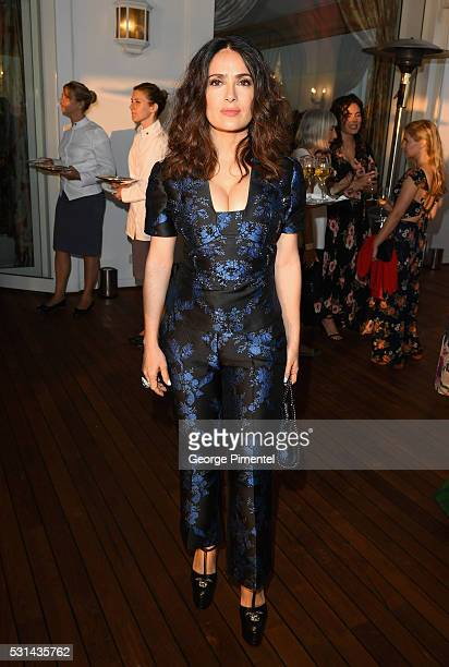 Actress Salma Hayek attends Vanity Fair and HBO Dinner Celebrating the Cannes Film Festival at Hotel du CapEdenRoc on May 14 2016 in Cap d'Antibes...
