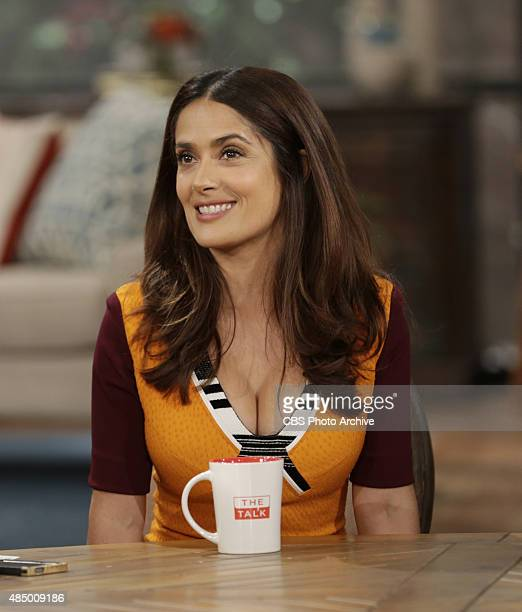 Actress Salma Hayek discusses her new animated film on 'The Talk' Friday August 14 2015 on the CBS Television Network