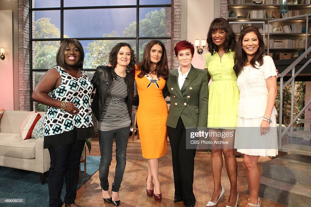 Actress Salma Hayek discusses her new animated film on 'The Talk' Friday August 14 2015 on the CBS Television Network From left Sheryl Underwood Sara...