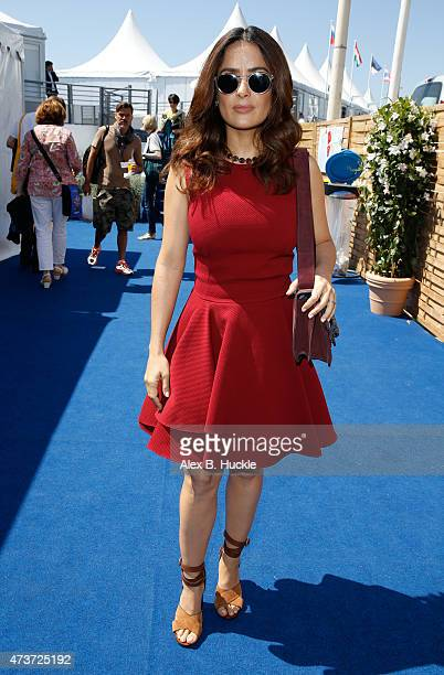 Actress Salma Hayek during the 68th annual Cannes Film Festival on May 17 2015 in Cannes France