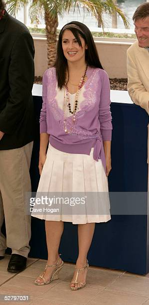 Actress Salma Hayek from Mexico attends the Jury Photocall at the 58th International Cannes Film Festival on May 11 2005 in Cannes France