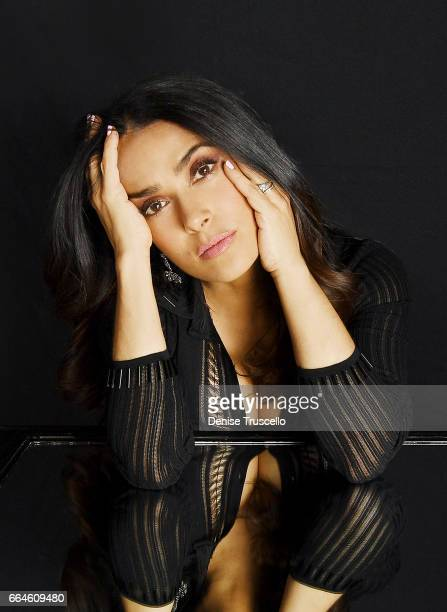 Actress Salma Hayek is photographed at CinemaCon for Peoplecom on March 30 2017 in Las Vegas Nevada
