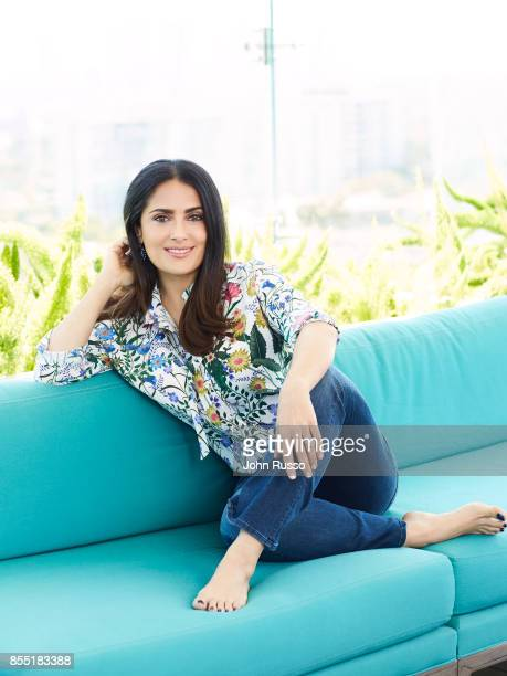 Actress Salma Hayek is photographed for Hola Magazine on April 12 2017 in Los Angeles California