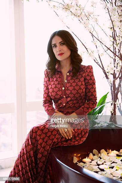 Actress Salma Hayek is photographed for InStylecom on May 1 2015 in New York City