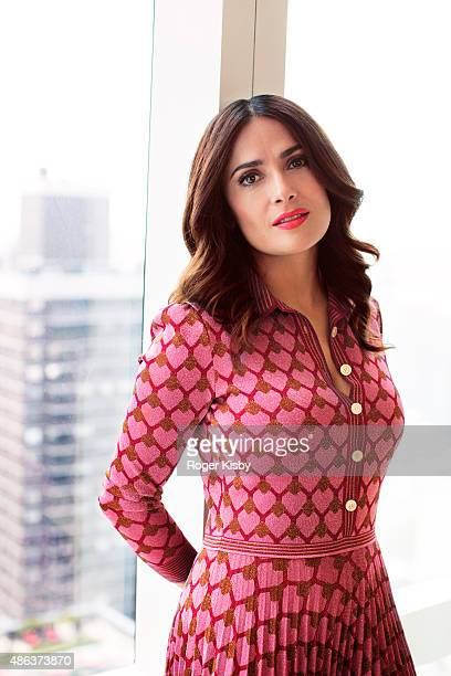 Actress Salma Hayek is photographed for InStylecom on May 1 2015 in New York City PUBLISHED IMAGE