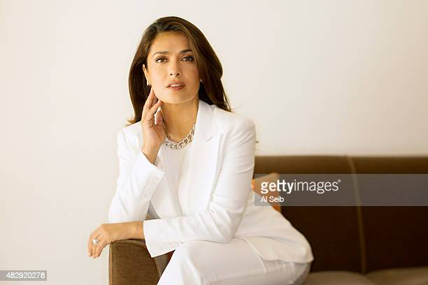 Actress Salma Hayek is photographed for Los Angeles Times on August 2 2015 in Los Angeles California PUBLISHED IMAGE CREDIT MUST READ Al Seib/Los...