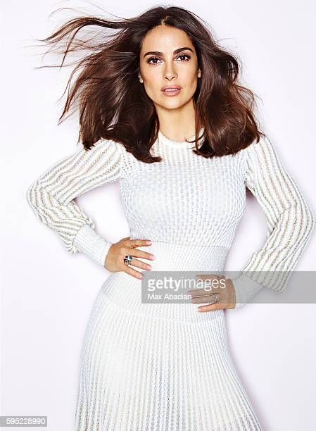 Actress Salma Hayek is photographed for Red magazine on March 15 2016 in London England ON DOMESTIC EMBARGO UNTIL OCTOBER 8 2016 ON INTERNATIONAL...