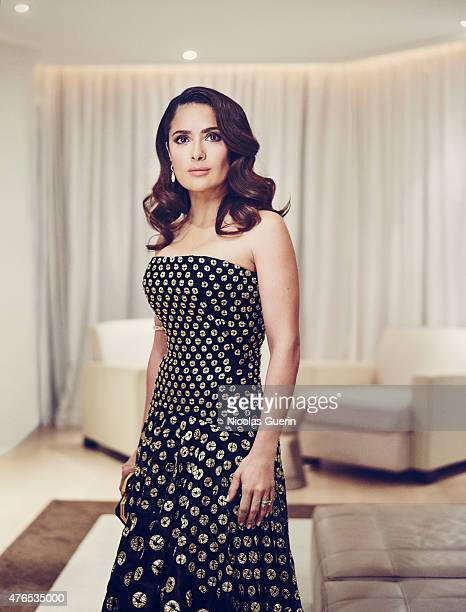 Actress Salma Hayek is photographed for Self Assignment on May 15 2015 in Cannes France