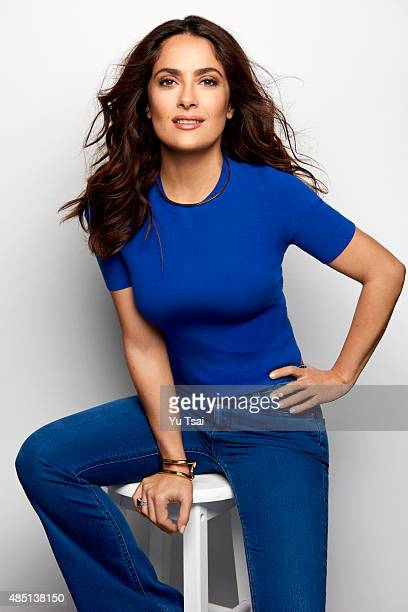 Actress Salma Hayek is photographednfor People Magazine on August 1 2015 in Los Angeles California ON DOMESTIC EMBARGO UNTIL NOVEMBER 20 2015 ON...