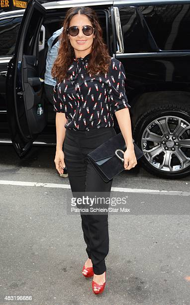 Actress Salma Hayek is seen on August 6 2015 in New York City