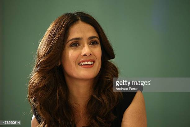 Actress Salma Hayek onstage during the Variety and UN Women's panel discussion on gender equality at 68th Cannes Film Festival at Radisson Blu on May...