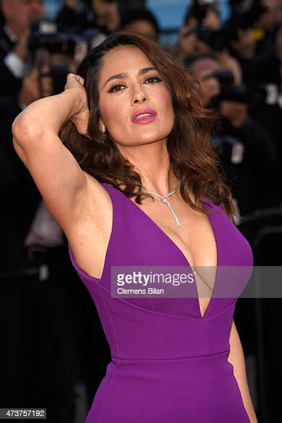 Actress Salma Hayek Pinault attends the 'Rocco and His Brothers Restoration' Premiere during the 68th annual Cannes Film Festival on May 17 2015 in...