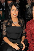 Actress Salma Hayek President of the Arop Gala evening attends the Arop Gala Event for Carmen New Production Launch at Opera Bastille on December 13...