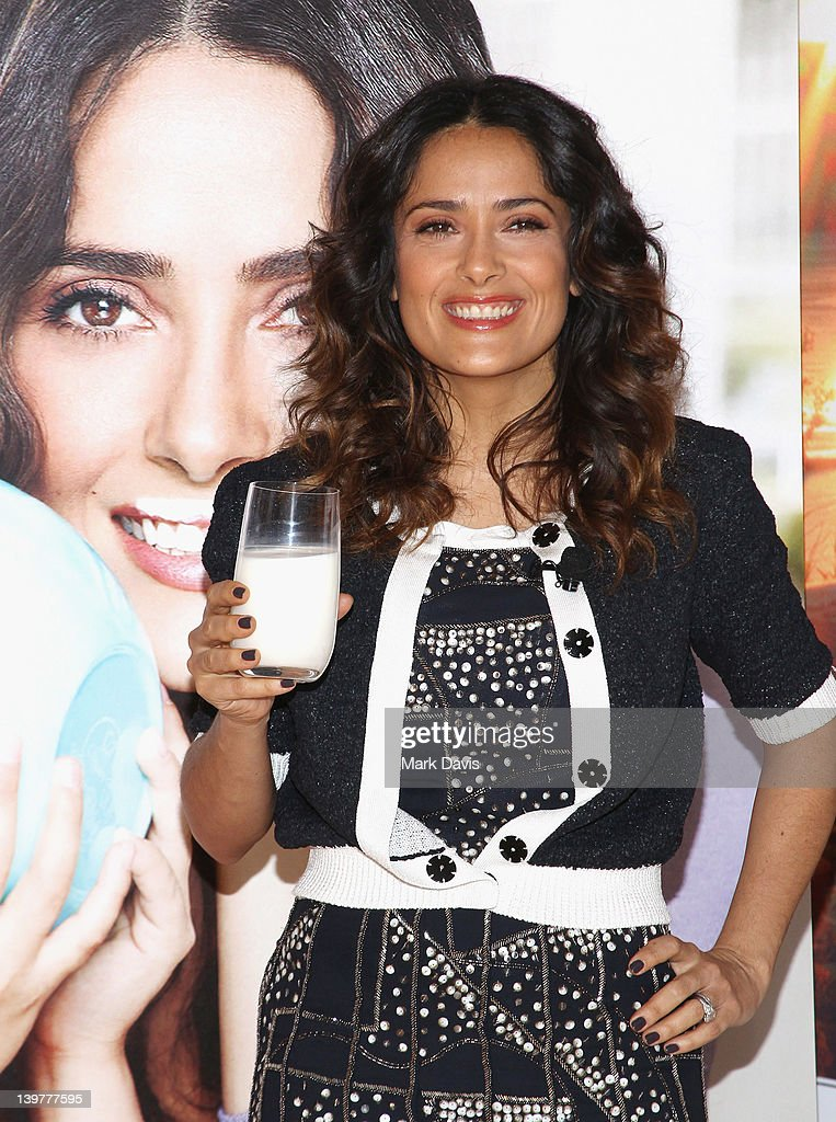 Actress Salma Hayek Teams Up With National Milk Mustache 'Got Milk' Campaign To Launch The Breakfast Project at L'Ermitage Beverly Hills Hotel on...