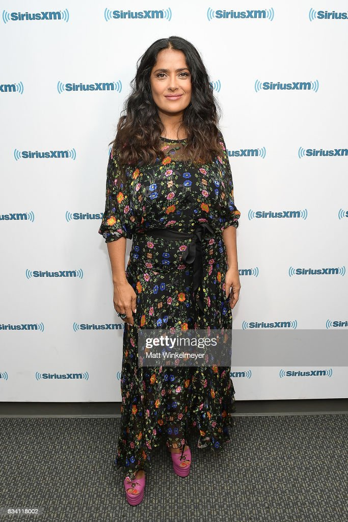 Actress Salma Hayek visits the SiriusXM Studios on August 17, 2017 in Los Angeles, California.