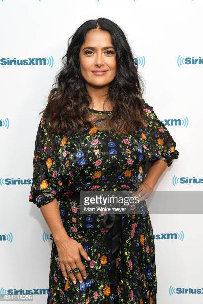 Actress Salma Hayek visits the SiriusXM Studios on August 17 2017 in Los Angeles California