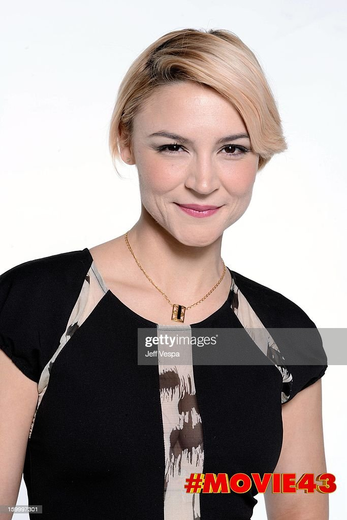 Actress Samaire Armstrong poses for a portrait during Relativity Media's 'Movie 43' Los Angeles premiere at TCL Chinese Theatre on January 23, 2013 in Hollywood, California.