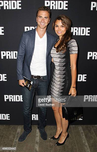 Actress Samantha Barks and Richard Fleeshman attend the Screening of CBS Films' 'Pride' at AMPAS Samuel Goldwyn Theater on September 23 2014 in...