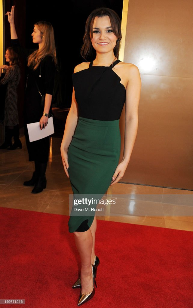 Actress Samantha Barks arrives at the London Critics Circle Film Awards at the May Fair Hotel on January 20, 2013 in London, England.