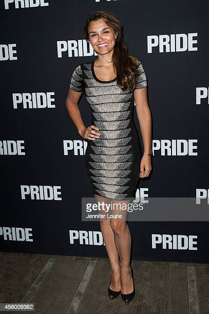 Actress Samantha Barks arrives at the Los Angeles Special Screening of 'Pride' at the AMPAS Samuel Goldwyn Theater on September 23 2014 in Beverly...
