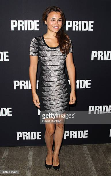 Actress Samantha Barks attends the Screening of CBS Films' 'Pride' at AMPAS Samuel Goldwyn Theater on September 23 2014 in Beverly Hills California