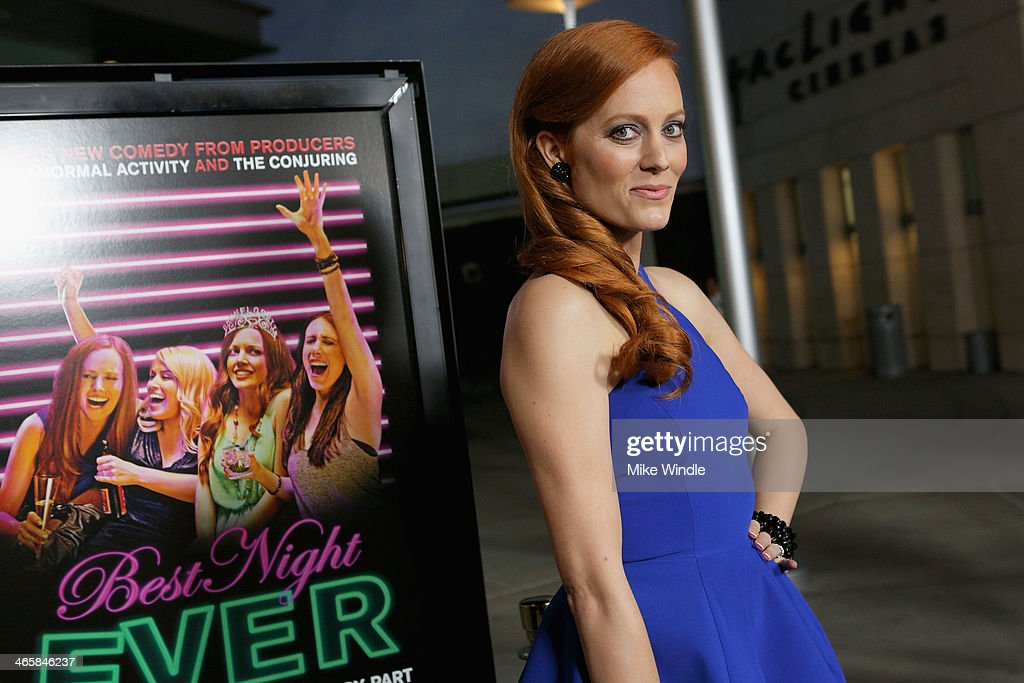 Actress Samantha Colburn arrives at the premiere of Magnet's 'Best Night Ever' at ArcLight Cinemas on January 29, 2014 in Hollywood, California.