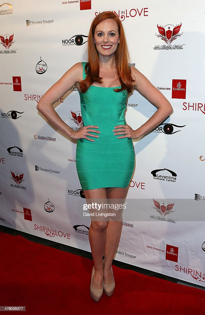 Actress <a gi-track='captionPersonalityLinkClicked' href=/galleries/search?phrase=Samantha+Colburn&family=editorial&specificpeople=9020660 ng-click='$event.stopPropagation()'>Samantha Colburn</a> attends the premiere of Sideshow Releasing's 'Shirin In Love' at Avalon on March 11, 2014 in Hollywood, California.
