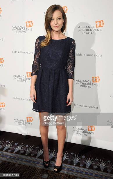 Actress Samantha Droke arrives at The Alliance for Children's Rights 21st Annual Dinner at The Beverly Hilton Hotel on March 7 2013 in Beverly Hills...