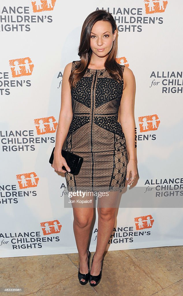 Actress <a gi-track='captionPersonalityLinkClicked' href=/galleries/search?phrase=Samantha+Droke&family=editorial&specificpeople=4955708 ng-click='$event.stopPropagation()'>Samantha Droke</a> arrives at The Alliance For Children's Rights 22nd Annual Dinner at The Beverly Hilton Hotel on April 7, 2014 in Beverly Hills, California.