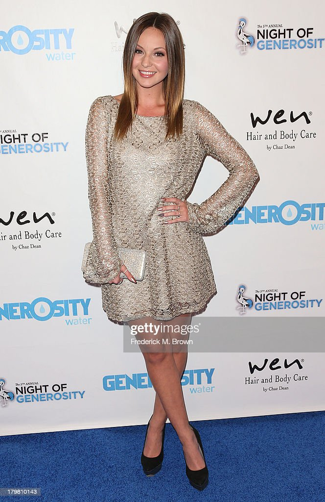 Actress Samantha Droke attends Generosity Water's 5th Annual Night of Generosity Benefit at the Beverly Hills Hotel on September 6, 2013 in Beverly Hills, California.